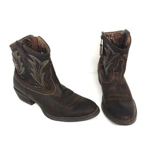Ariat Billy Sassy Side Zip Cowboy Boot Size 8.5